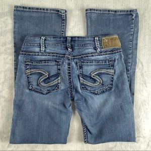 Silver Tuesday Jean W30/L31 Low Rise Boot Cut Factory Fade Whiskering